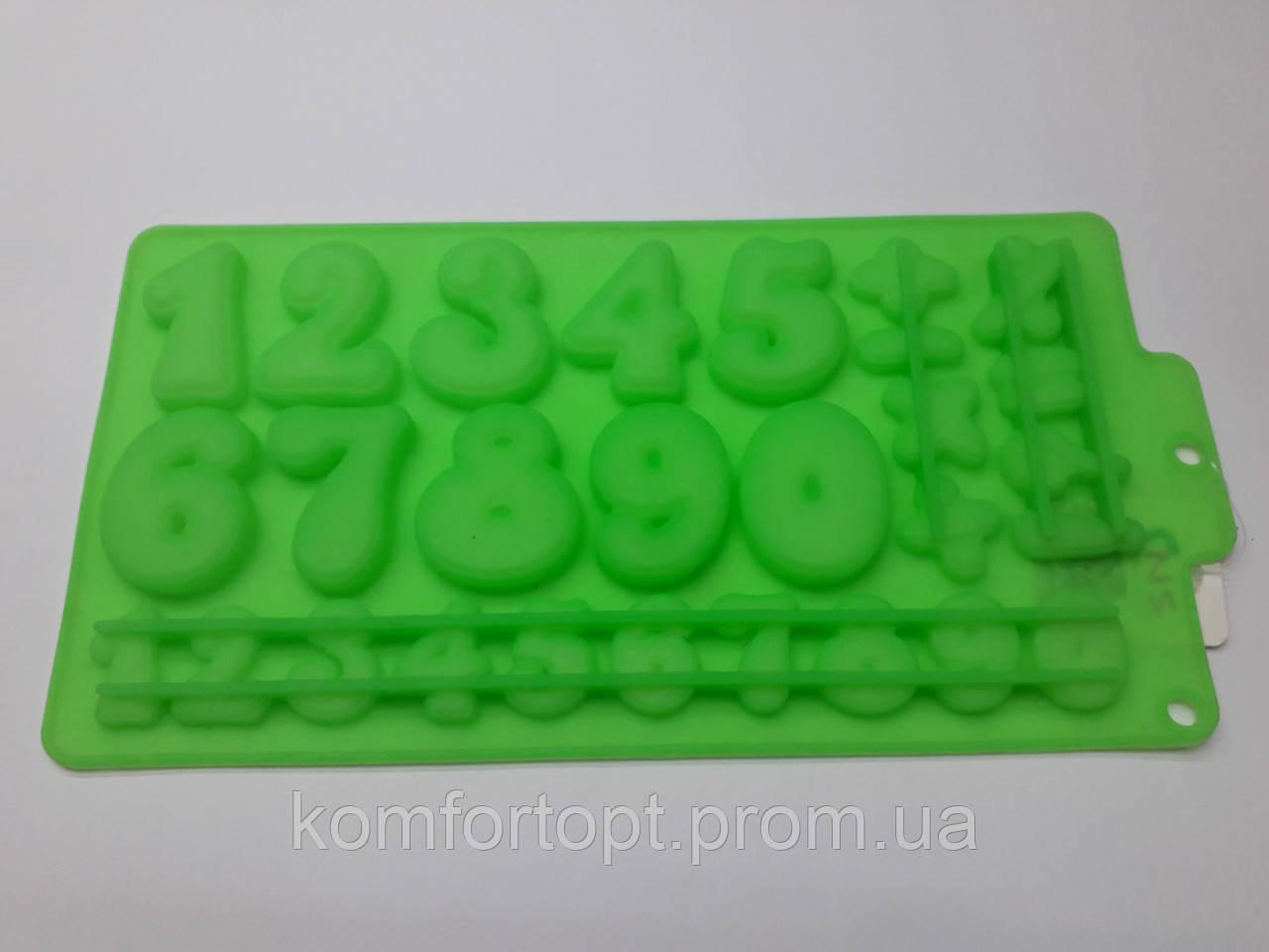 """Форма силиконовая для выпечки """"Цифры"""" 29см х 15,5см"""