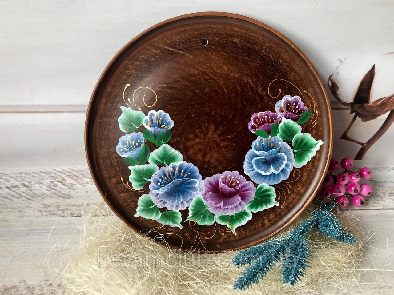 Панно з квітковим малюнком 25 см