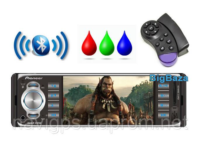 "Автомагнитола Pioneer 4019 CRM, экран 4.1"". Bluetooth, Камера. 2016г."