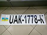 Заказ покупателя на изготовление номеров на лодку   100х25 см  2 шт., фото 2