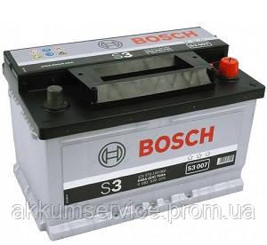 Аккумулятор автомобильный Bosch S3 70AH R+ 640А евро (S3 007)
