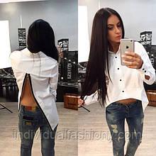 Белая рубашка с молнией на спине