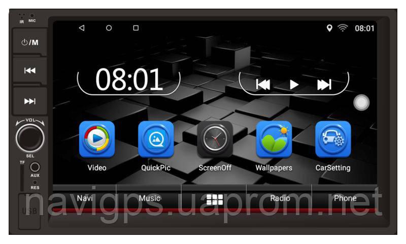 Магнитола Android Terra 4078U, Андроид 7+