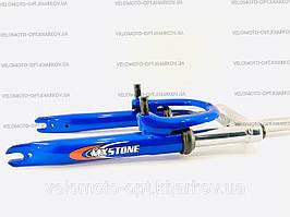 "Вилка MX Stone 20"" с резьбой под V-brake, 1"" (25.4 мм), St blue"