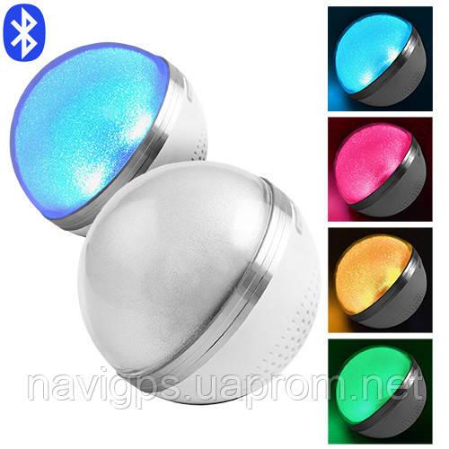Портативная колонка М8 Bluetooth перламутровый, светильник RGB, радио