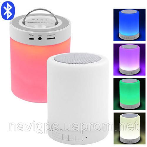 Портативная Bluetooth-колонка S-66, светильник (сенсорный)