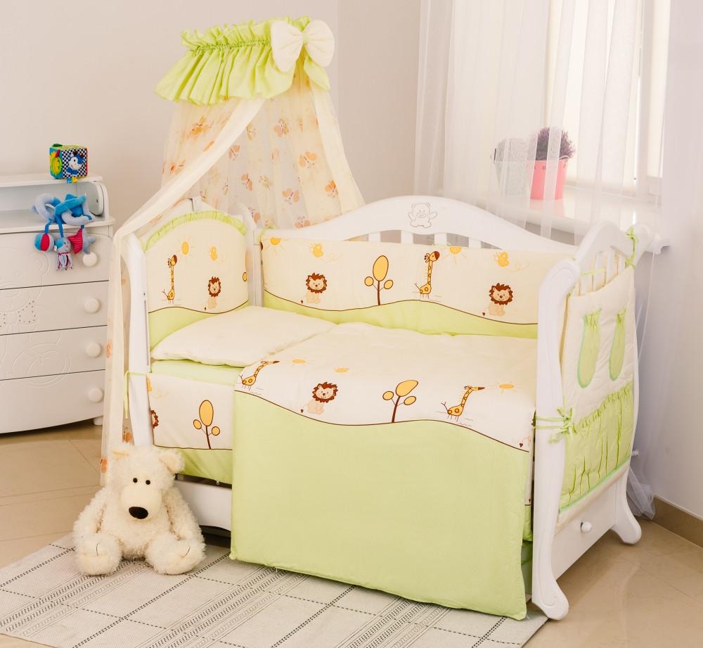 Детская постель Twins Standart Африка 8 эл. (Постіль Twins Standart С-002 Африка зеленый)