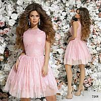 0372b4be992 Платье вечернее пышное красивое гипюр+габардин+фантиновый подъюбник 42