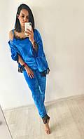 Женская бархатная пижама 4-ка