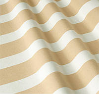 Уличная ткань полоса бежево-белая. Дралон. Испания LD 84329 v2
