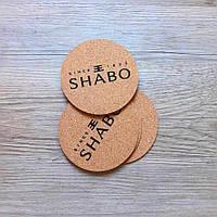 Костеры круглые пробковые с логотипом Shabo 6 шт в уп.