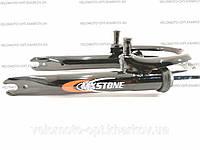 "Вилка MX Stone 20"" с резьбой под V-brake, 1"" (25.4 мм), St black"