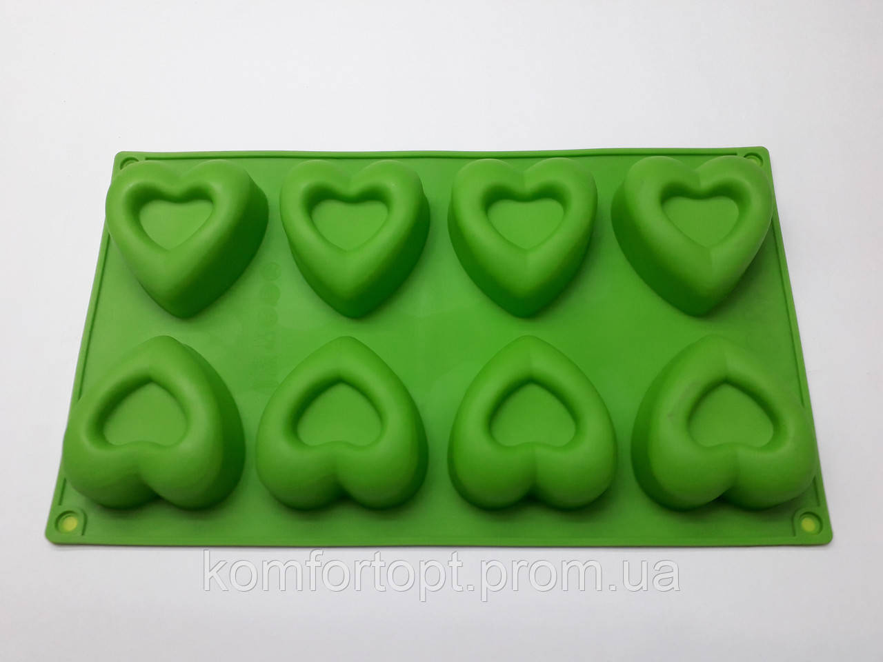 """Форма силиконовая для выпечки  """"Сердца"""" 29см х 17см"""