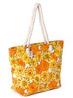 Пляжная сумка PODIUM 2019-2 -1 женская летняя текстильная ручки канаты