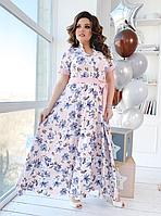 Яркое платье рубашка длинное, с 50-56 размер, фото 1