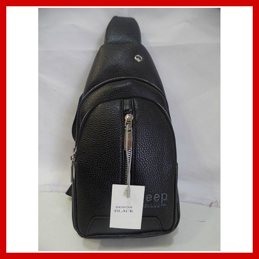 Мужская сумка через плечо бананка Jeep Buluo Bag 3605 черная