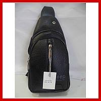Мужская сумка через плечо бананка Jeep Buluo Bag 3605 черная, фото 1