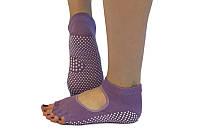 Носки для йоги нескользящие RAO Фиолетовые hubMAVx33083, КОД: 270247