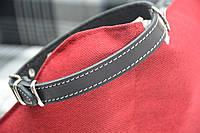 Ошейник для собак кожаный ширина черный, фото 1