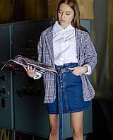 Джинсовые юбки с поясом