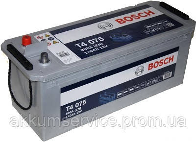 Аккумулятор автомобильный Bosch Truck 140AH 800А (T4 075)