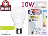 Светодиодная лампа димируемая типа А60 Horoz LED 10W 6500K для общего и декоративного освещения