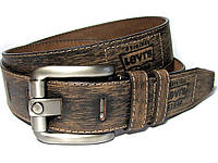 Мужской кожаный ремень LEVIS  LEVI'S (коричневый)