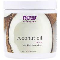 "Кокосовое масло NOW Foods ""Natural Coconut Oil"" холодного отжима (207 мл)"