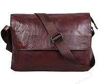 Мужская кожаная сумка Dovhani A4-98015 Коричневая