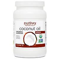 """Кокосовое масло Nutiva """"Coconut Oil"""" Virgin, холодной выжимки (444 мл)"""