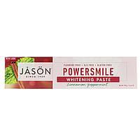 Отбеливающая зубная паста от пятен с корицей и мятой, Jason Natural, PowerSmile  (170 г)