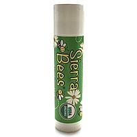 Органический бальзам для губ, Sierra Bees, Tamanu & Tea Tree Lip Balm, масло таману и чайного дерева (4,25 г)