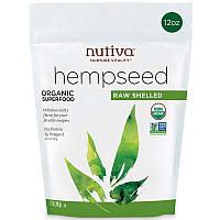 Органические очищенные семена конопли, Nutiva (340 г)