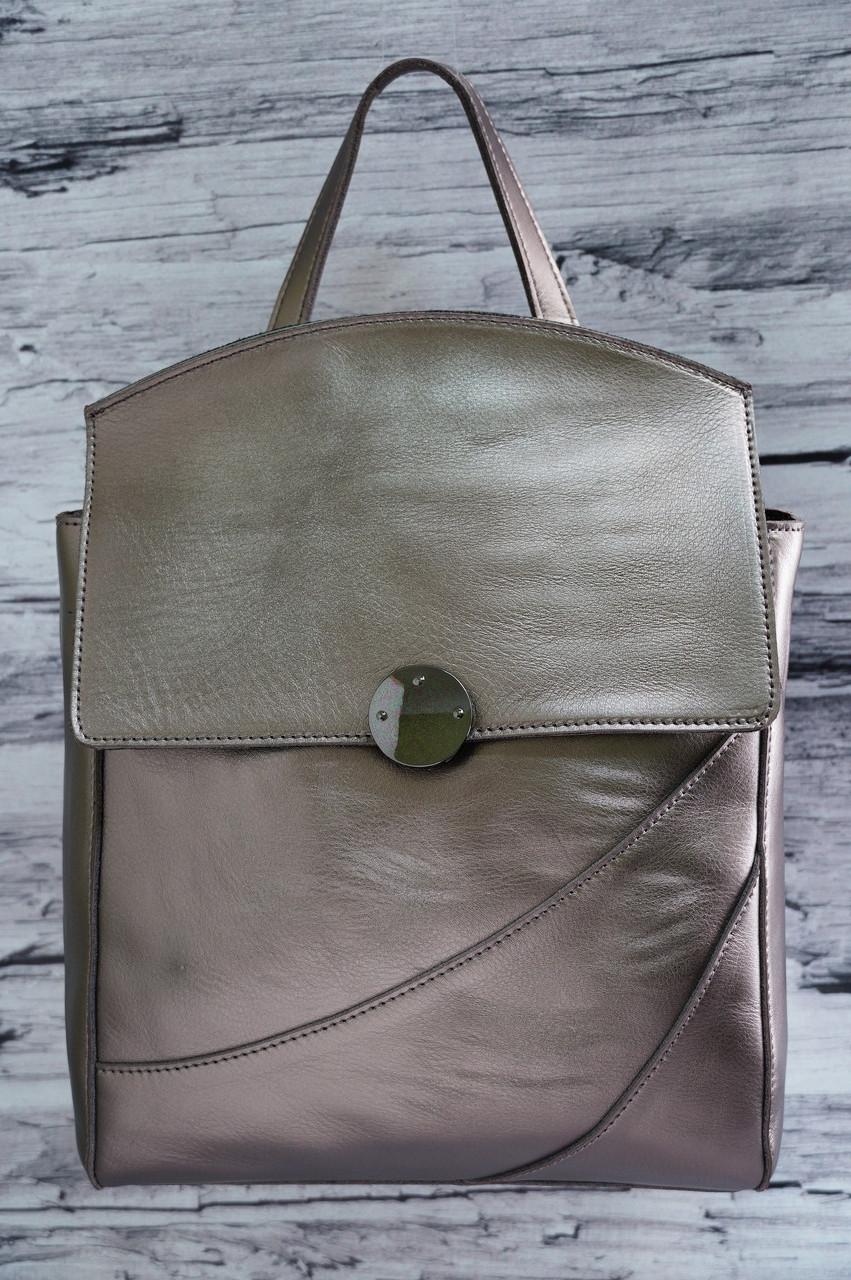 Кожаный рюкзак Galanty 10890 silver