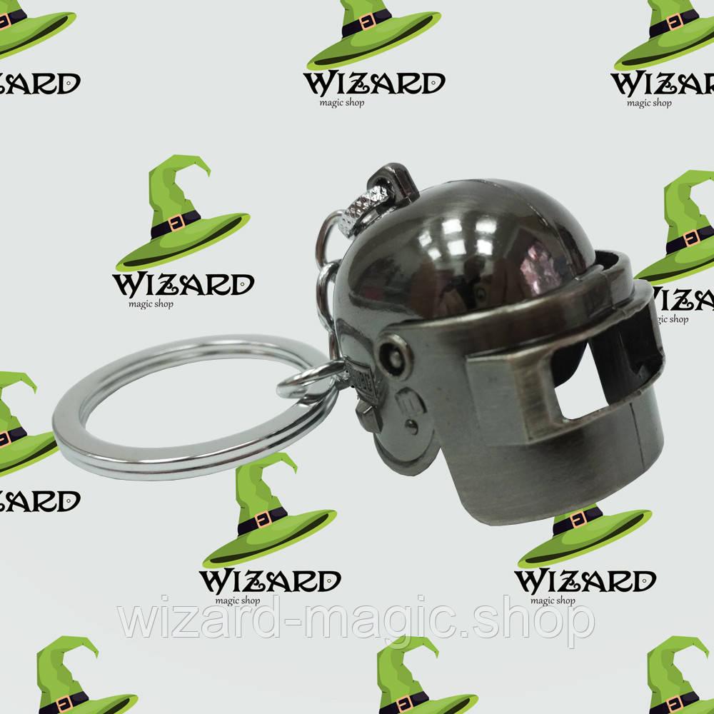 Брелок Объемный шлем PUBG серебро № 27