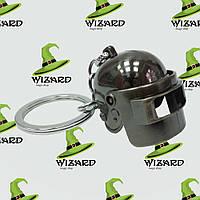 Брелок Объемный шлем PUBG серебро № 27, фото 1