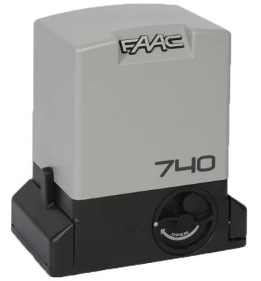 Привод Faac 740 с встроенным блоком управления 740D и монтажной пластиной, интенсивность - 30%
