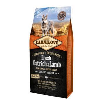 Carnilove (Карнилав) Fresh Ostrich & Lamb корм со свежим мясом для собак мелких пород, 1.5 кг