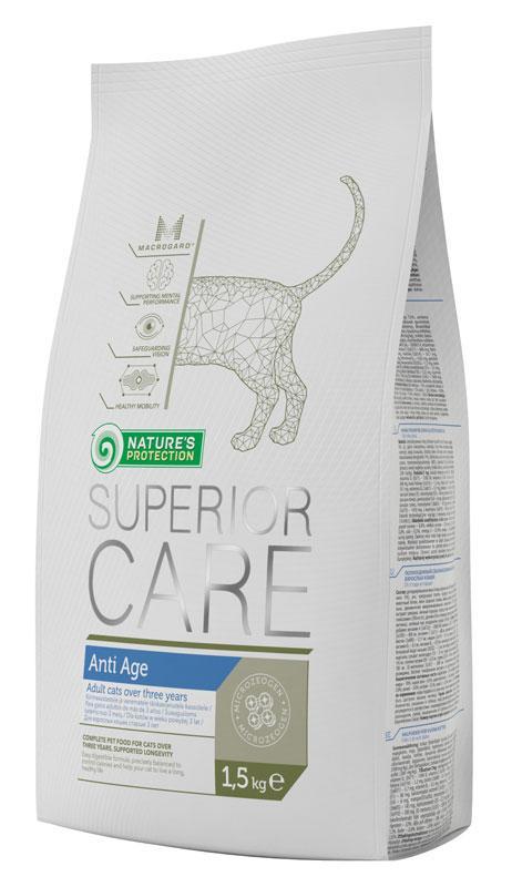 Nature's Protection Superior Care Anti Age сухой корм для взрослых кошек в возрасте 3-х лет и старше, 15 кг