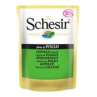Schesir Chicken Fillet натуральные консервы для кошек с куриным филе