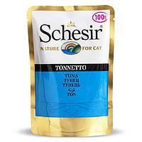 Schesir Tuna натуральные консервы для кошек тунец в желе