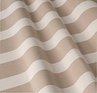 Уличная ткань полоса бежево-белая 2. Дралон. Испания LD 84334 v6