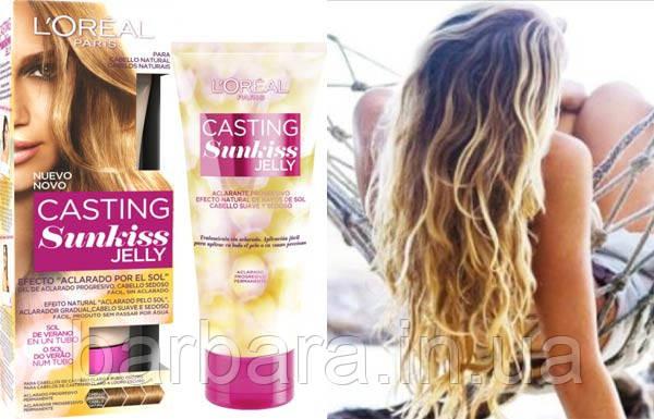Осветлитель L'Oréal Casting Sunkiss Jelly 01 для светло-каштановых и темно-русых Золотистые оттенки