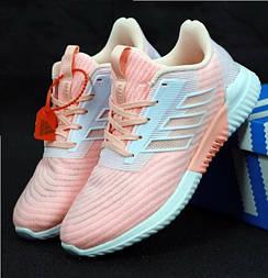 Женские кроссовки Adidas Climacool Cm розовые с белым. Живое фото. Реплика