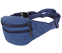 Сумка текстильная на пояс Dovhani Q001-113NBLUE Синяя