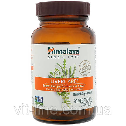 Himalaya Herbal Healthcare, Підтримка печінки, 90 капсул у рослинній оболонці, фото 2
