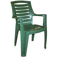 Кресло пластиковое «Рекс», зеленое