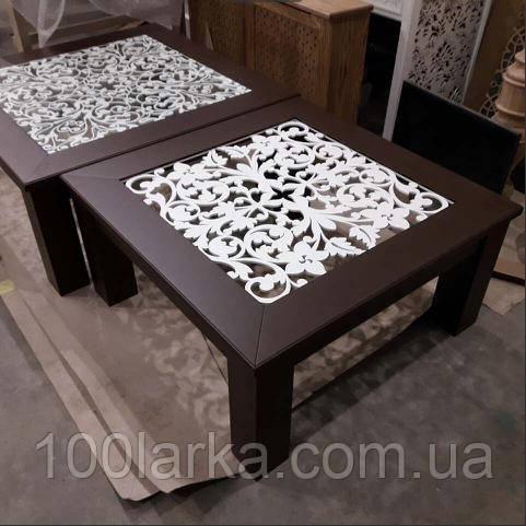 Столик журнальный, кофейный, резной. В/Ш/Г 420 х 850 х 850 цвет RAL-8016