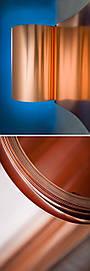 Кровельная медь (лента) KME Tecu, Медная поверхность Classic, толщина 0,55 мм