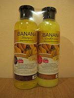 Органический лечебный шампунь для поврежденных и сухих волос+ кондиционер,Banana Shampoo&Conditioner 360ml+360
